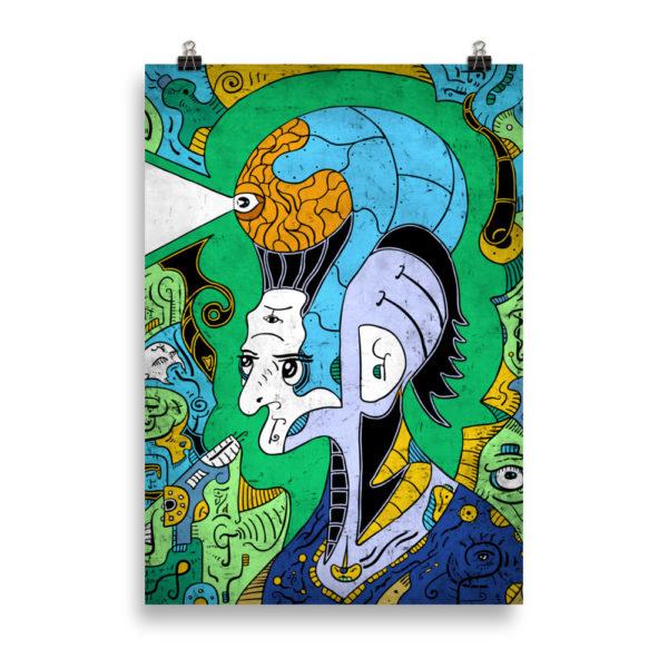 """Brain-Man"" Poster"