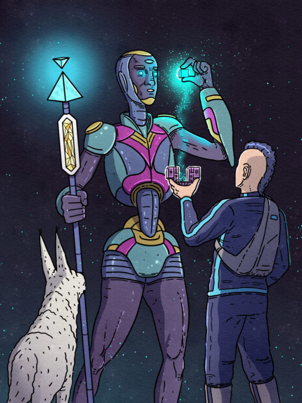 """Keenan Meets The Alien"" Printable Wall Art"