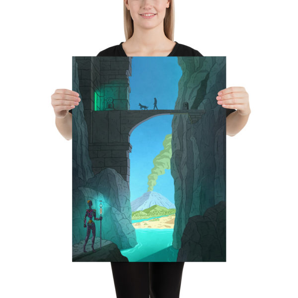 Keenan and the Mountain Temple Poster