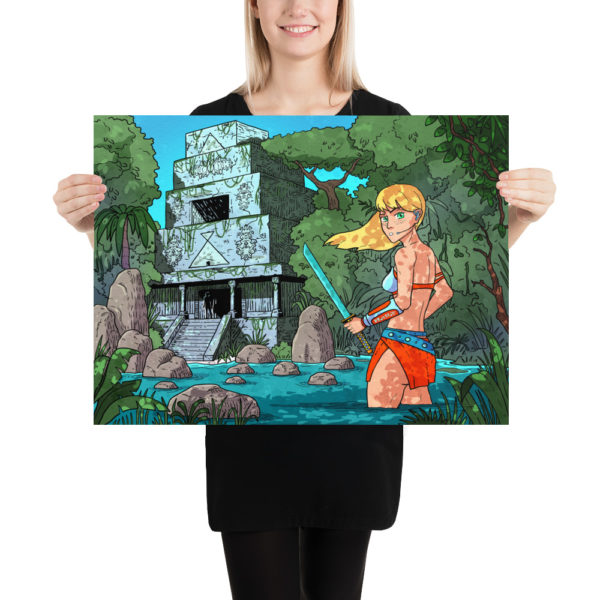 """""""Temple in Jungle"""" Poster"""