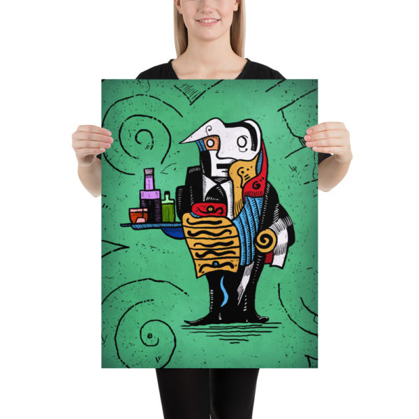 Absinthe Waiter Poster