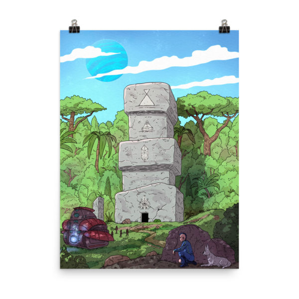 """""""Keenan and the Stone Temple"""" Poster"""
