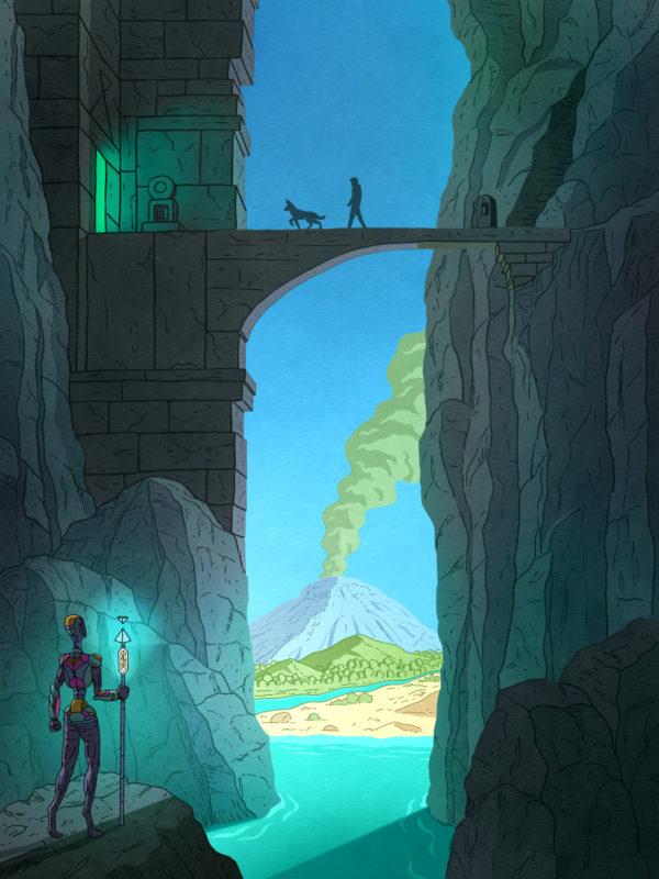 """Keenan and the Mountain Temple"" Printable Wall Art"