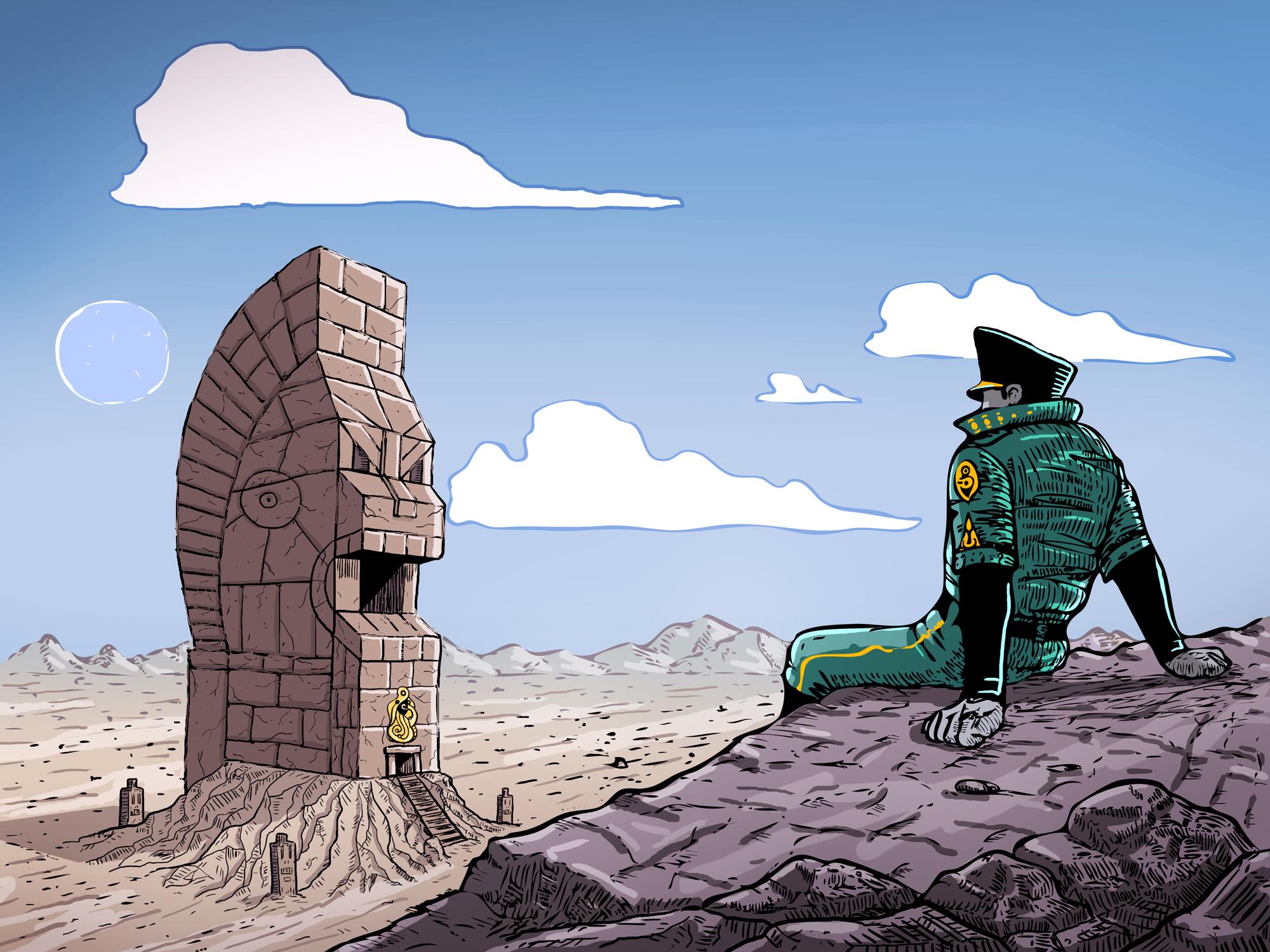 """Resting"" illustration"