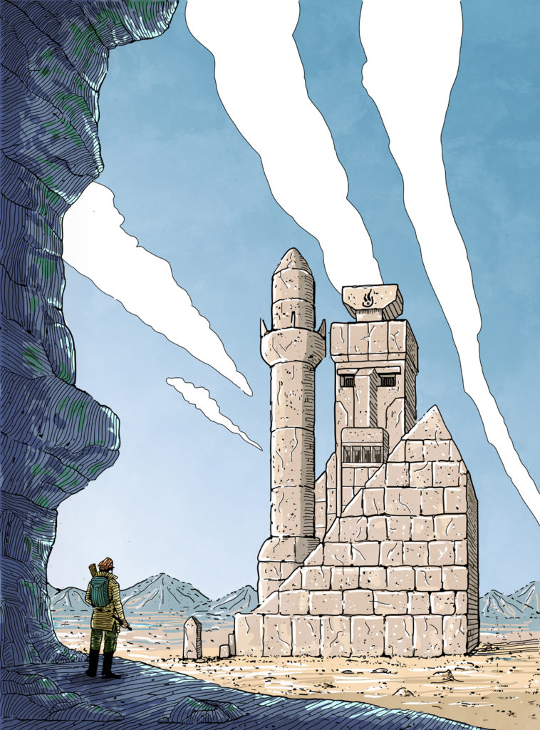 """Read more about the article """"The Lost Temple"""" illustration"""