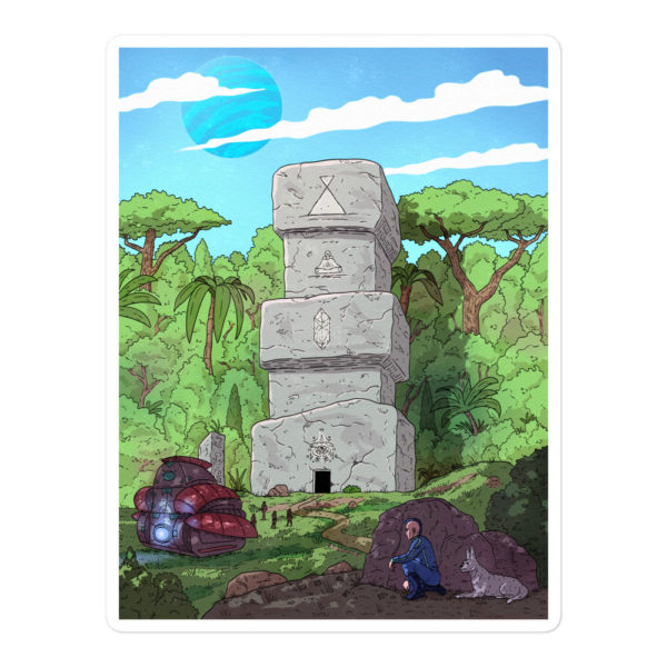 """""""Keenan and the Stone Temple"""" Sticker"""