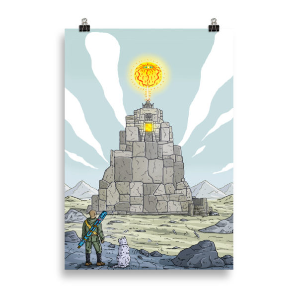 """Temple of the sun god"" Poster"