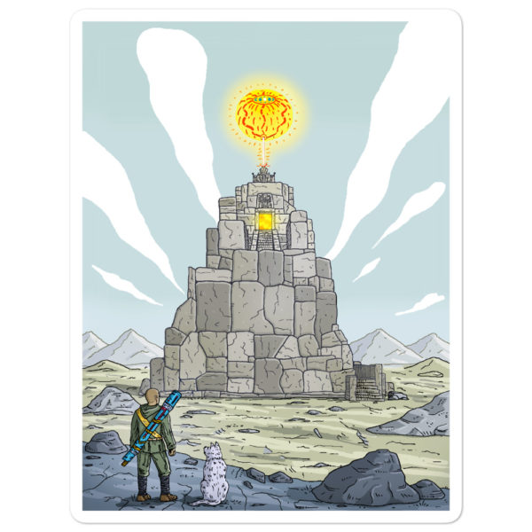 """Temple of the sun god"" Sticker"