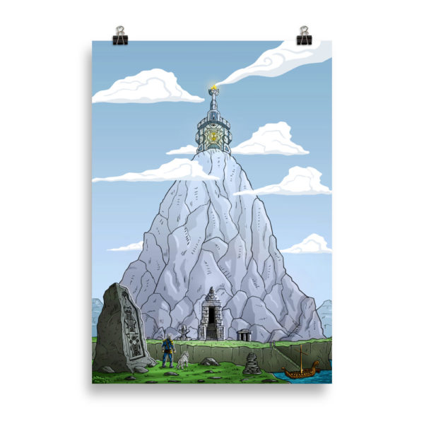 """Mountain Shrine"" Poster"