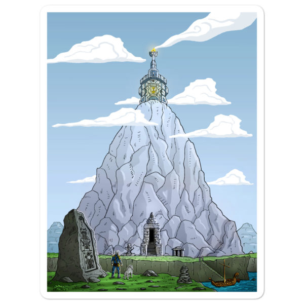 """Mountain Shrine"" Sticker"