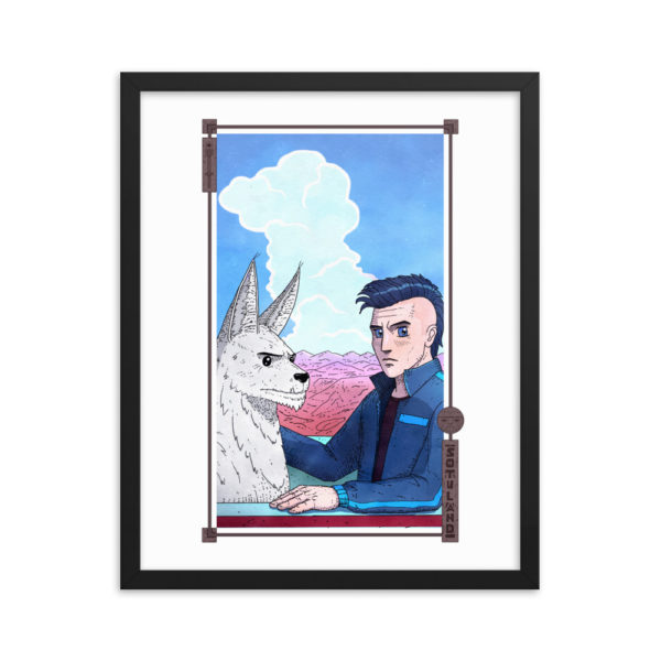 """Arrival"" Framed Poster"