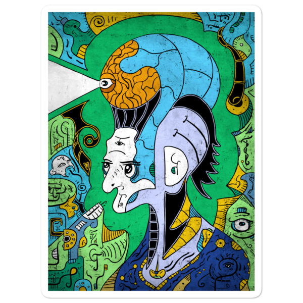 """Brain-Man"" Sticker"