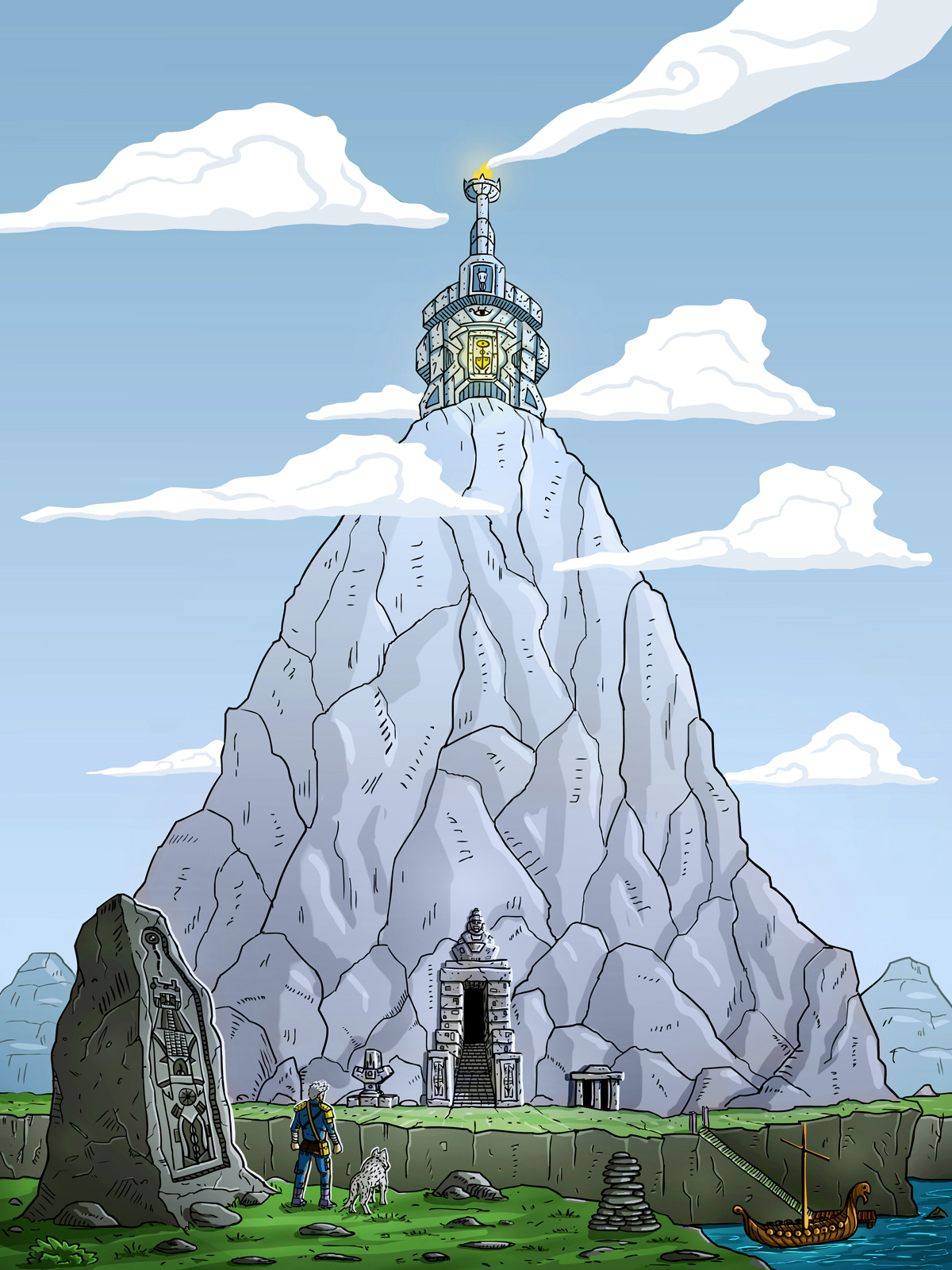 """Mountain Shrine"" illustration"