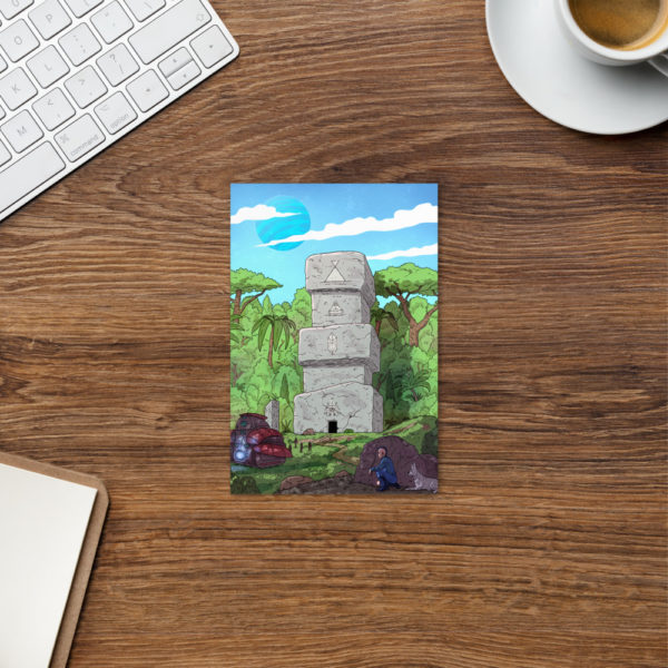 """""""Keenan and the Stone Temple"""" Postcard"""