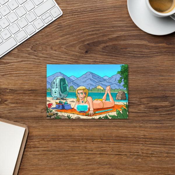 Rita Resting At The Beach Postcard