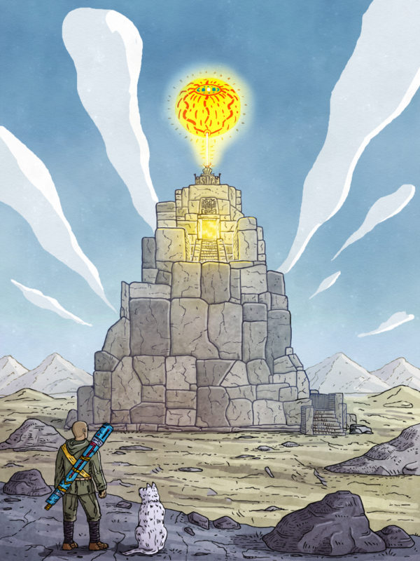 """""""Temple of the sun god"""" Poster"""