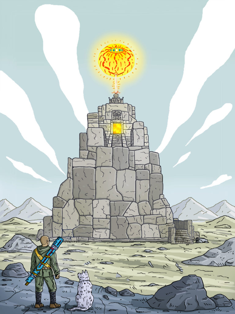 Read more about the article Temple of the sun god illustration